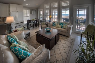 Upstairs Open Concept Living Area with Gulf of Mexico Views