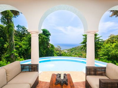 Photo for Spectacular Hilltop Home w/ Private Beach, Mountain & Sea Views.