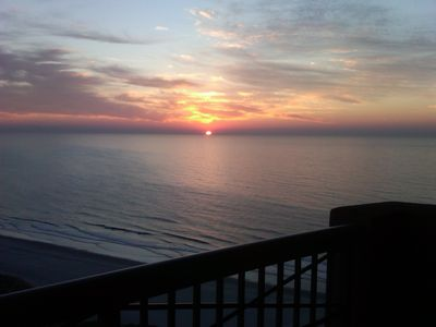 Watch sun rise from the deck
