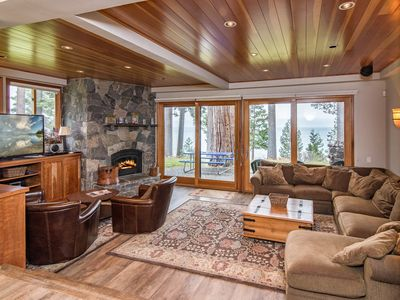 Photo for Luxe Lakefront 4BR Condo w/ Pool, Tennis & Private Pier Access - Near  Skiing