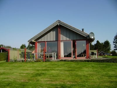Photo for Øster Assels.80m2 lovely wooden summerhouse with panorama view over the fjord.