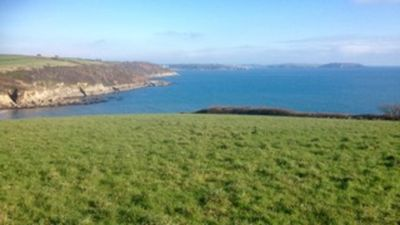 View of Falmouth Bay from the field just outside Arvor -great for sunrises !