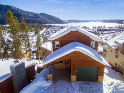 Photo for Amazing views from every level, XL hot tub!!