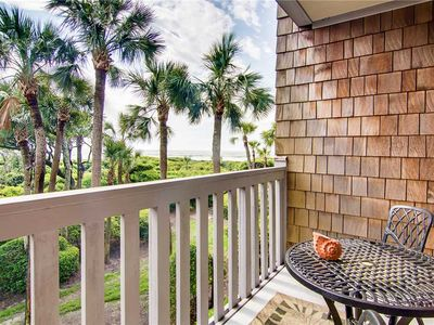 Photo for 2273 Shipwatch - Cozy Seaside Villa Just Steps From Beach! Partial Ocean View From Private Porch.
