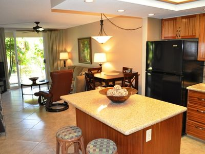 Photo for Beautifully renovated and furnished one bedroom condo at the Maui Banyan in south Kihei. G-105