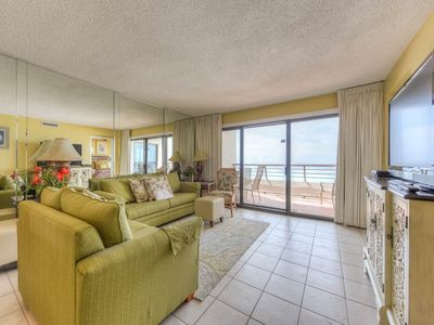 Photo for Beautiful 2 bedroom @ Emerald Towers #605, on the beach with Gulf views!