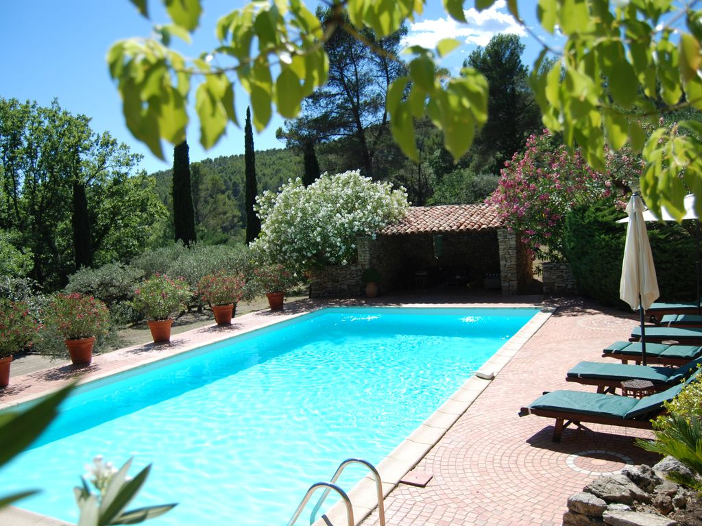 Superb SALERNES Haut Var Charming House 6x12 Pool Air Conditioning 70000m2 Park.  Salernes Mas Rental