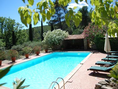 Photo for SALERNES Haut Var Charming House 6x12 pool air conditioning 70000m2 park