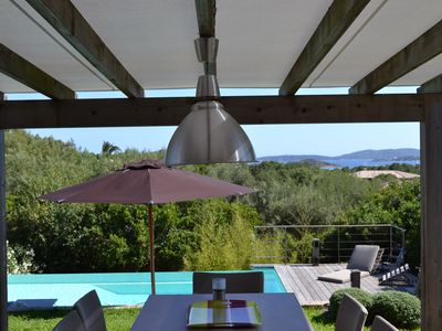 Photo for Porto-Vecchio, Contemporary villa, Sea view, Swimming pool, Cabanon Bleu beach