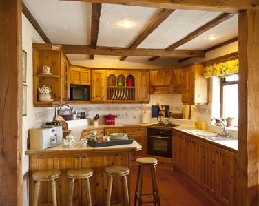 Fully fitted farmhouse kitchen.