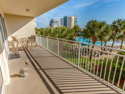 Photo for Lush gulf front condo w/ incredible views, shared pool, gym & poolside snack bar