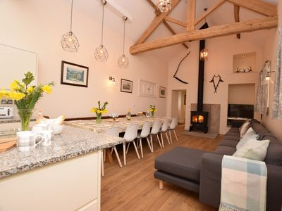 Open plan living with seating for all