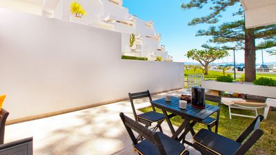 Photo for Oiza Beach Sand Castle, apartment for 4 in front of the beach of Puerto Alcudia