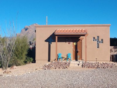 Private casita shares large 1.3 Acre lot