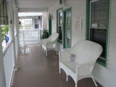 Front deck for guest to relax and  listen to the Ocean and  enjoy the breeze.