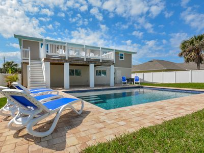 Photo for Gorgeous home with pool!  Walk to car free beach! 4717S