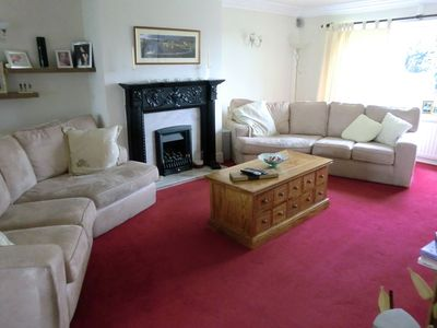 Large lounge with flat screen TV