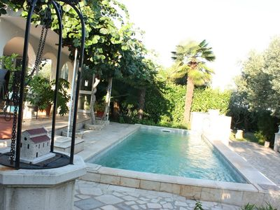 Photo for With swimming pool, nice terrace overlooking the sea, surrounded by olive groves, quiet