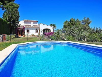 Photo for This 4-bedroom villa for up to 9 guests is located in Javea and has a private swimming pool and Wi-F