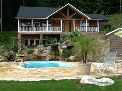 Photo for Luxury Lakefront  Home Swimming Pool, Boathouse with Pontoon Boat Rrental
