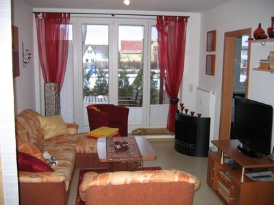 Photo for Windfluechter cozy family apartment, 100m v. sea