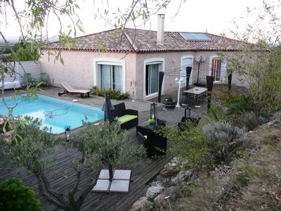 Photo for Large villa with pool in a peaceful vineyards and pine forest