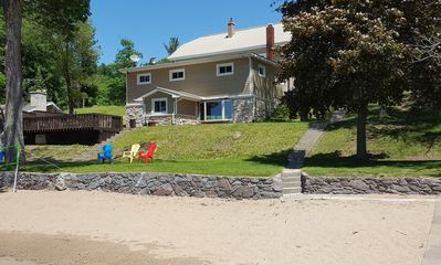 Photo for BEACH!! Lakehouse w/ Huge Sandy Beach! Sleeps 21+  Perfect For Families & Groups