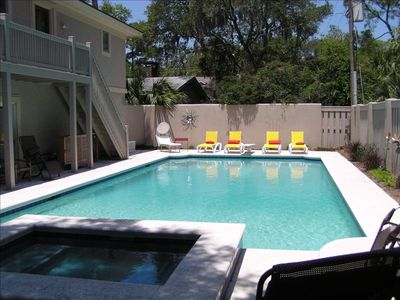Photo for Wonderfully Decorated Home, Largest Private Pool in Neighborhood,75 Yds to Beach