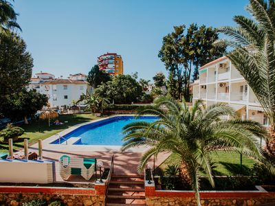 Photo for COMFORTABLE STUDIO WITH TERRACE AND POOL AREA VIEW