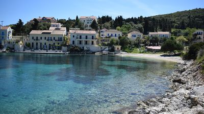 Olives beach only 30m from fiskardo view apartment .