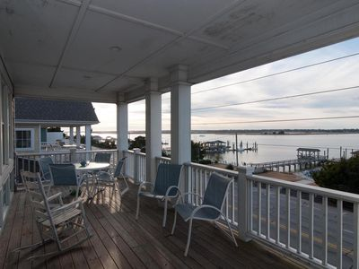 Photo for Enjoy family & friends at this soundfront pet friendly duplex with boat dock