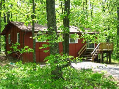 "Photo for ""Hot Tub Heaven Cabin #1 - Cabins for Rent in Linden, Virginia"