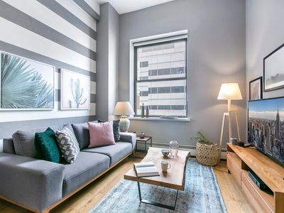 Photo for Luxury Tribeca 1BR w/ Gym, Doorman + Roof deck by Blueground