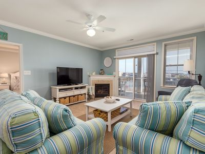 Photo for Updated Condo w/ Water Views - Short Walk to Pools, Clubhouse & Private Beach!