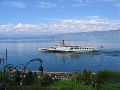 Photo for Balcony above Lake Geneva near Evian-les-Bains-le lac and Thollon-le ski