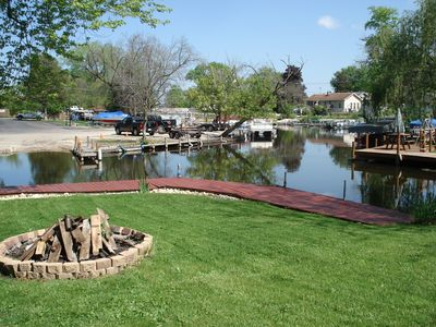 Fire pit and private dock