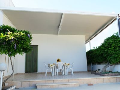 Photo for House with garden in the center of Torre Lapillo, 200 meters from the beach