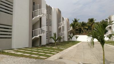 Photo for Depa alberca y wifi Manzanillo/ Gorgeous unit in safe, 5 min walk to the beach.