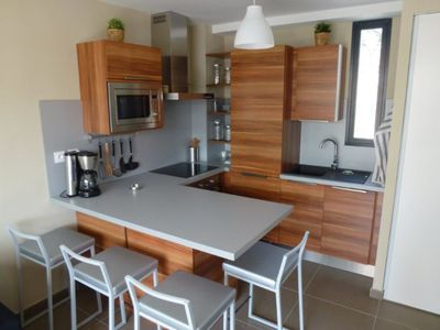 Photo for Apartment T1 sea view Racou - Air-conditioned - Private parking