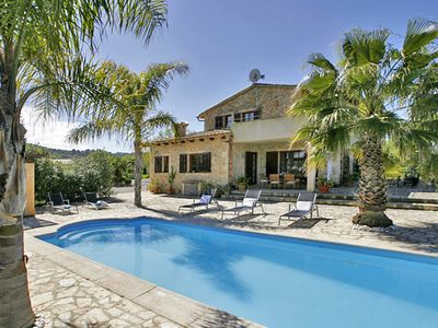 Photo for Large stone finca with a pool in the countryside, superb panoramic view