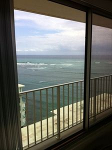 Diamond Head side Ocean View from the breakfast table!  Smell the salty air?
