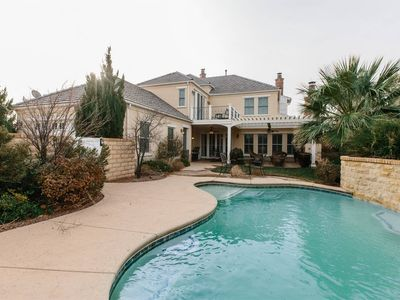 Photo for Mediterranean Villa ~ Private pool house near lake and dunes
