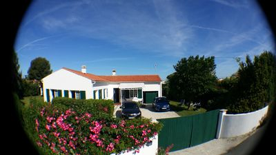 Photo for comfortable villa, space, nature, walled garden, 100m beach and town