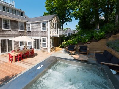 Photo for Contemporary 4 bedroom home on quiet downtown street with hot-tub and grand deck