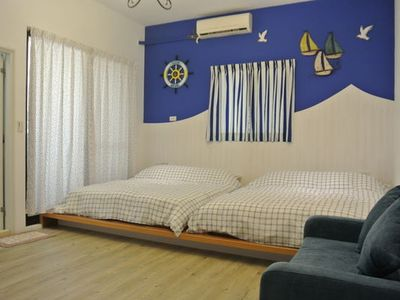 Photo for Mediterranean Room for 4 near Tainan Train STN