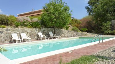 Photo for Graniti: SOLNATURA-girasole, house- villa in the outskitses of Taormina, much panoramic wit swimming-pool, wit sight sea, in Goes them Alcantara, with garden and terrace. Privacy