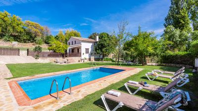 Photo for Charming villa with amazing pool, garden and surroundings