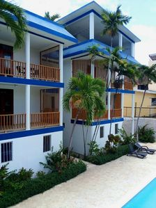 Photo for Guest-friendly room in central Sosua, pool/Wifi/cable TV, near everything