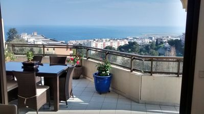 Photo for Roof terrace with sea view Apartment