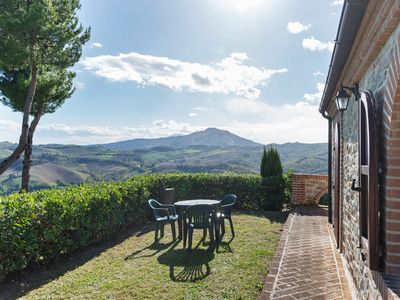 Photo for Valley-View Holiday Home in Montelparo with Pool & Garden
